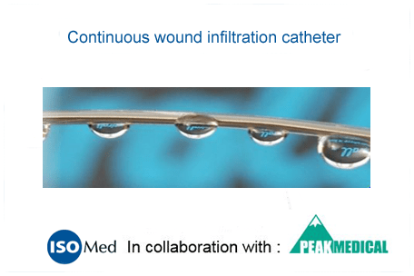 Continuous wound infiltration catheter